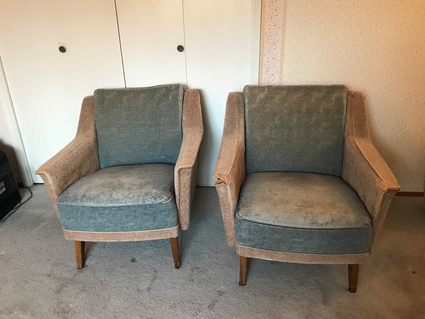 Lot # 117 - Two Matching Vintage Project Chairs - Matches Lot #116 (main image)