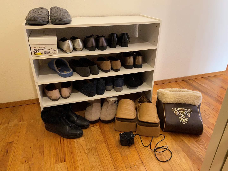 Lot # 29 - Shoe Rack w/Women's Shoes (main image)