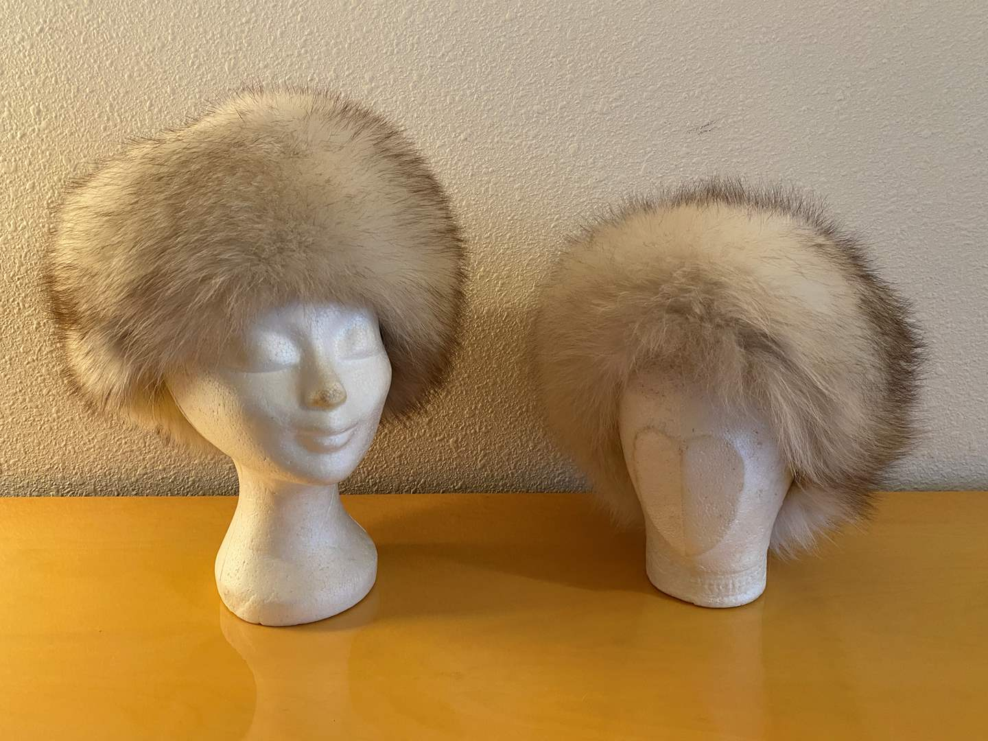 """Lot # 34 - Two Vintage Fur Hats (Possibly Silver Fox), One Tagged """"Andre"""" Canadian Fur Hat (main image)"""
