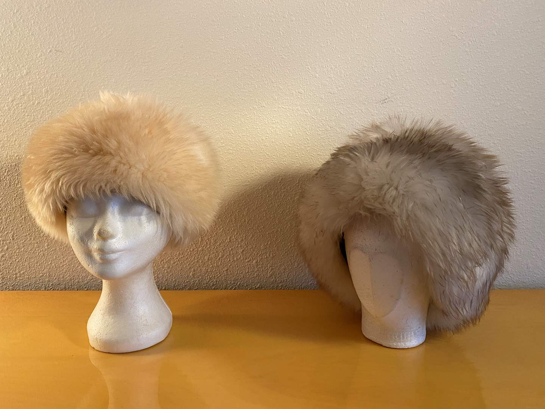 Lot # 35 - Two Vintage Italian Genuine Tuscan Lamb Skin Fur Hats (main image)