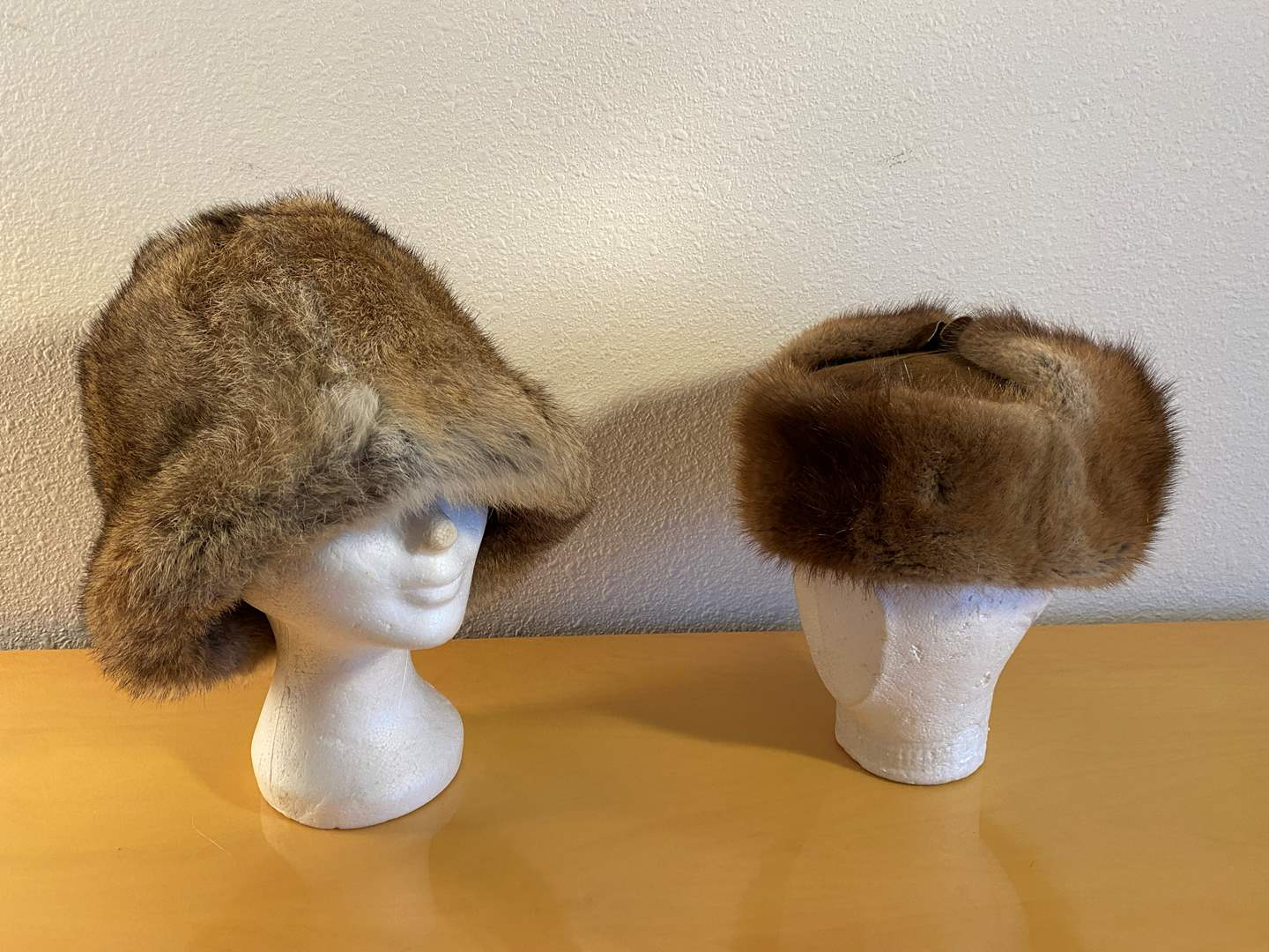 "Lot # 36 - Vintage ""United Hatters"" Fur Hat, Vintage German Fur & Leather Hat (main image)"