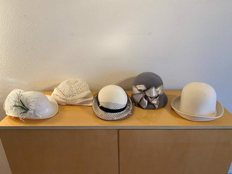 Lot # 39 - Five Vintage Women's Hats (main image)