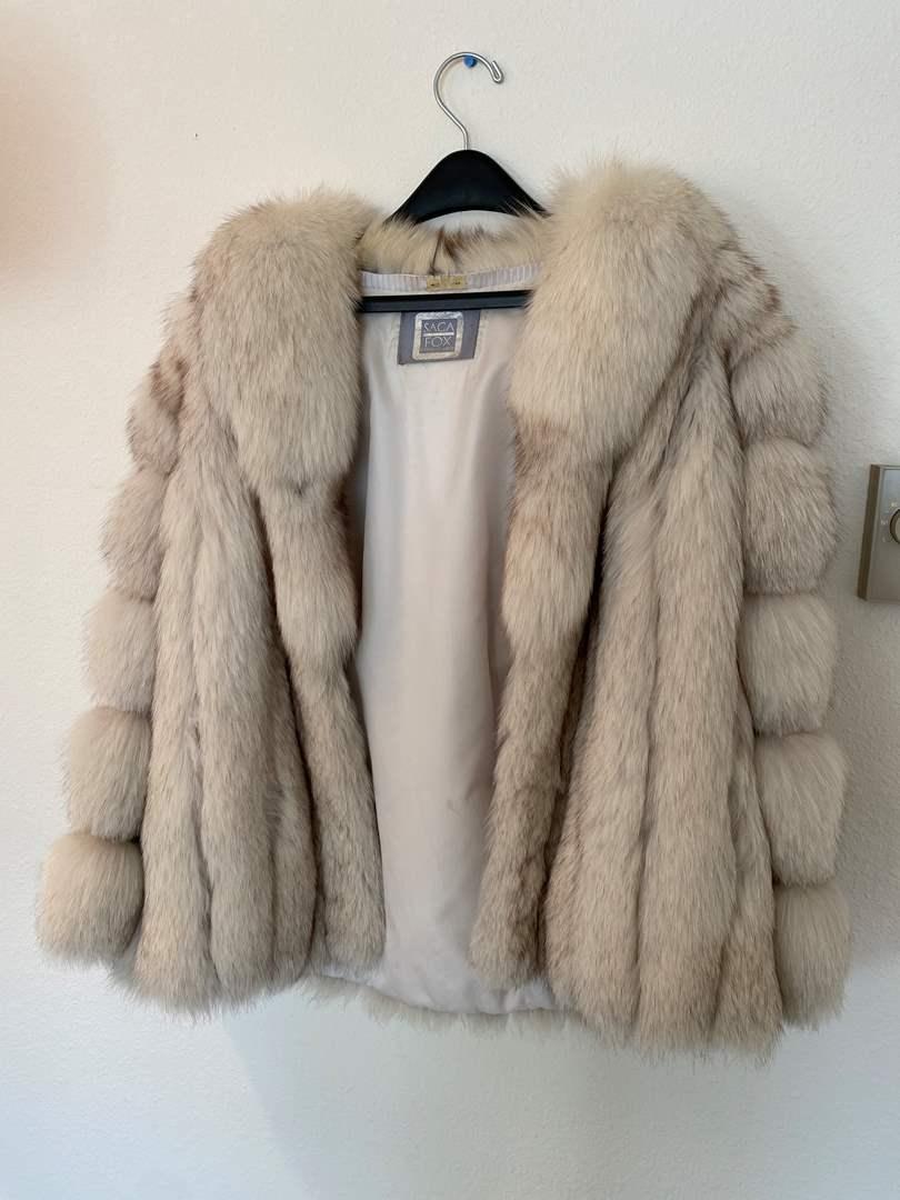 "Lot # 44 - Beautiful Vintage ""Saga"" Blue Fox Fur Coat (main image)"