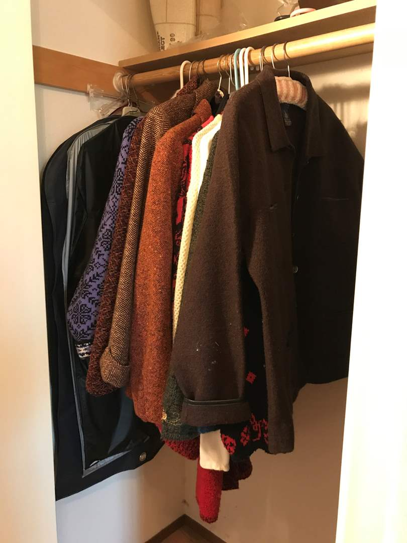 Lot # 126 - Selection of Sweaters, Jackets, Garment Covers & More.. (main image)