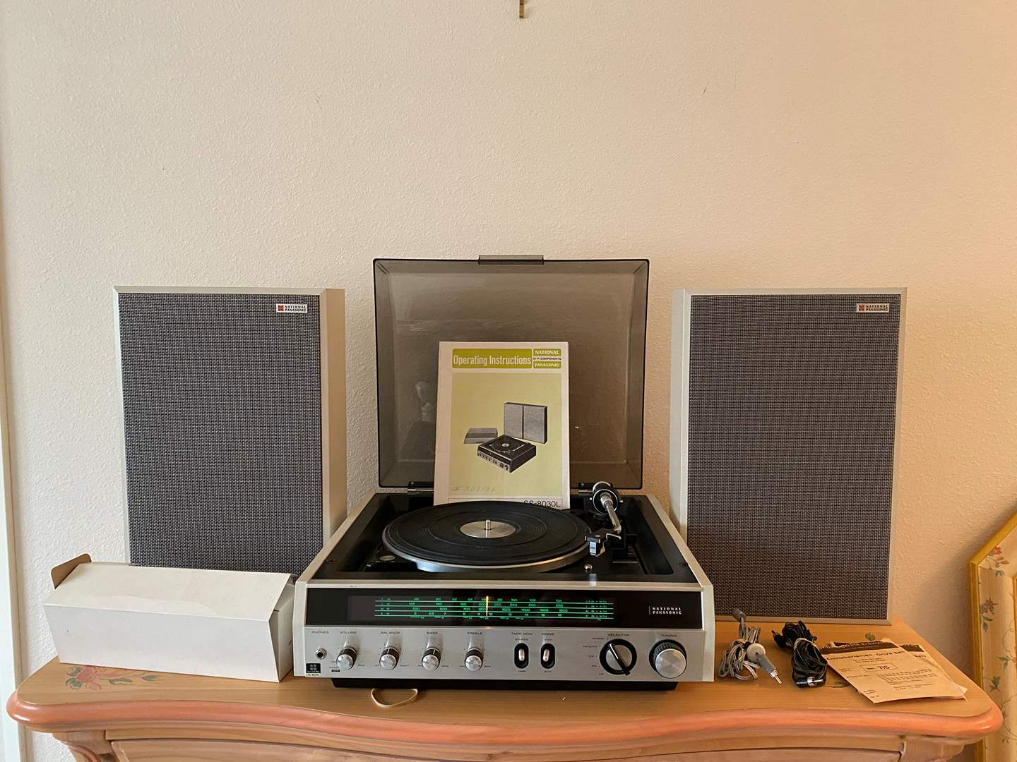 """Lot # 179 - Vintage """"National Panasonic"""" SS-8030L 4 Channel Stereo System w/Turntable - Powers On (main image)"""