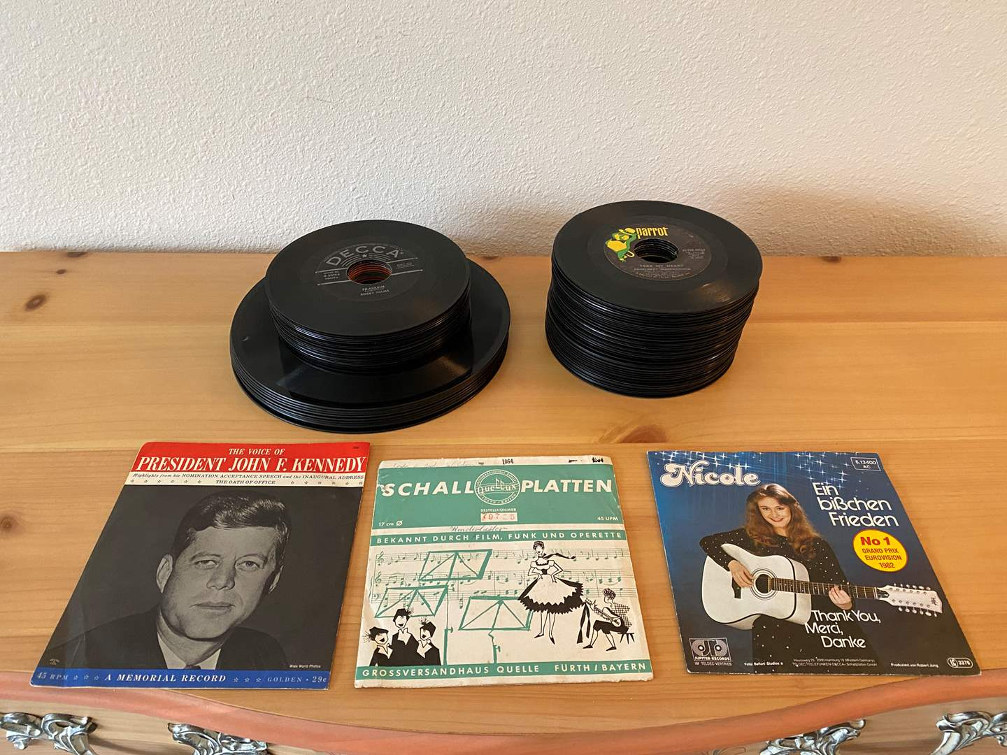 Lot # 182 - Stacks of 45's & Other Albums - See Photos for Titles (main image)