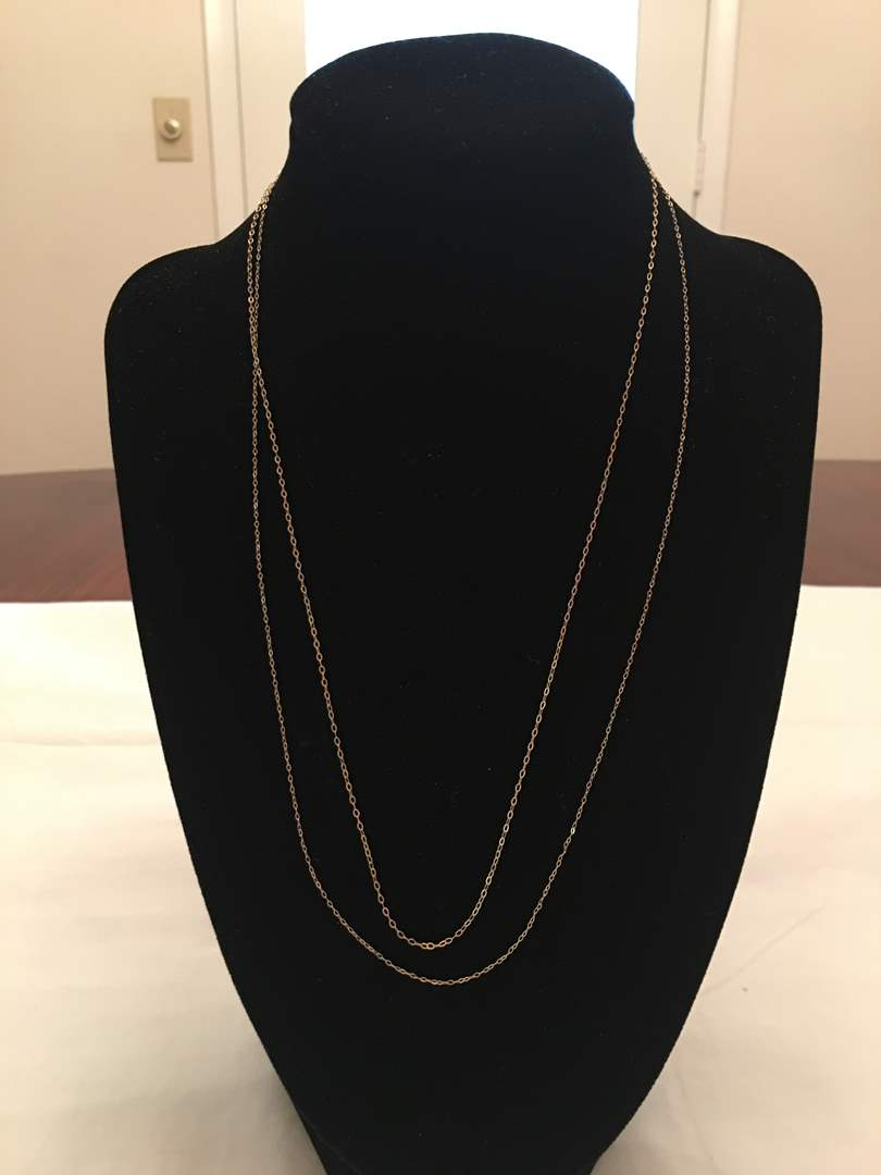 Lot # 145 - Two 14K Gold Chains - 1.07 Grams (main image)