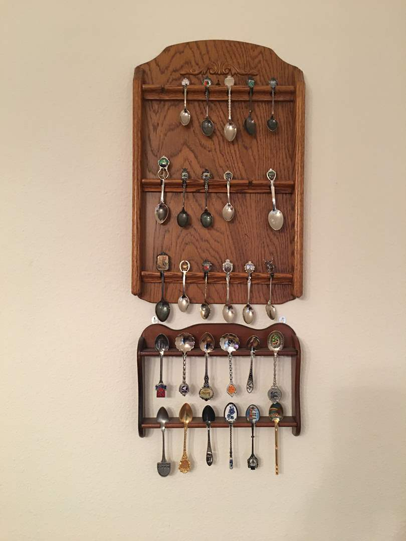 Lot # 148 - Two Spoon Racks & Spoons (main image)