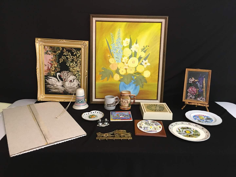 Lot # 94 - State Plates, Wall Art & Brass Key Holder (main image)