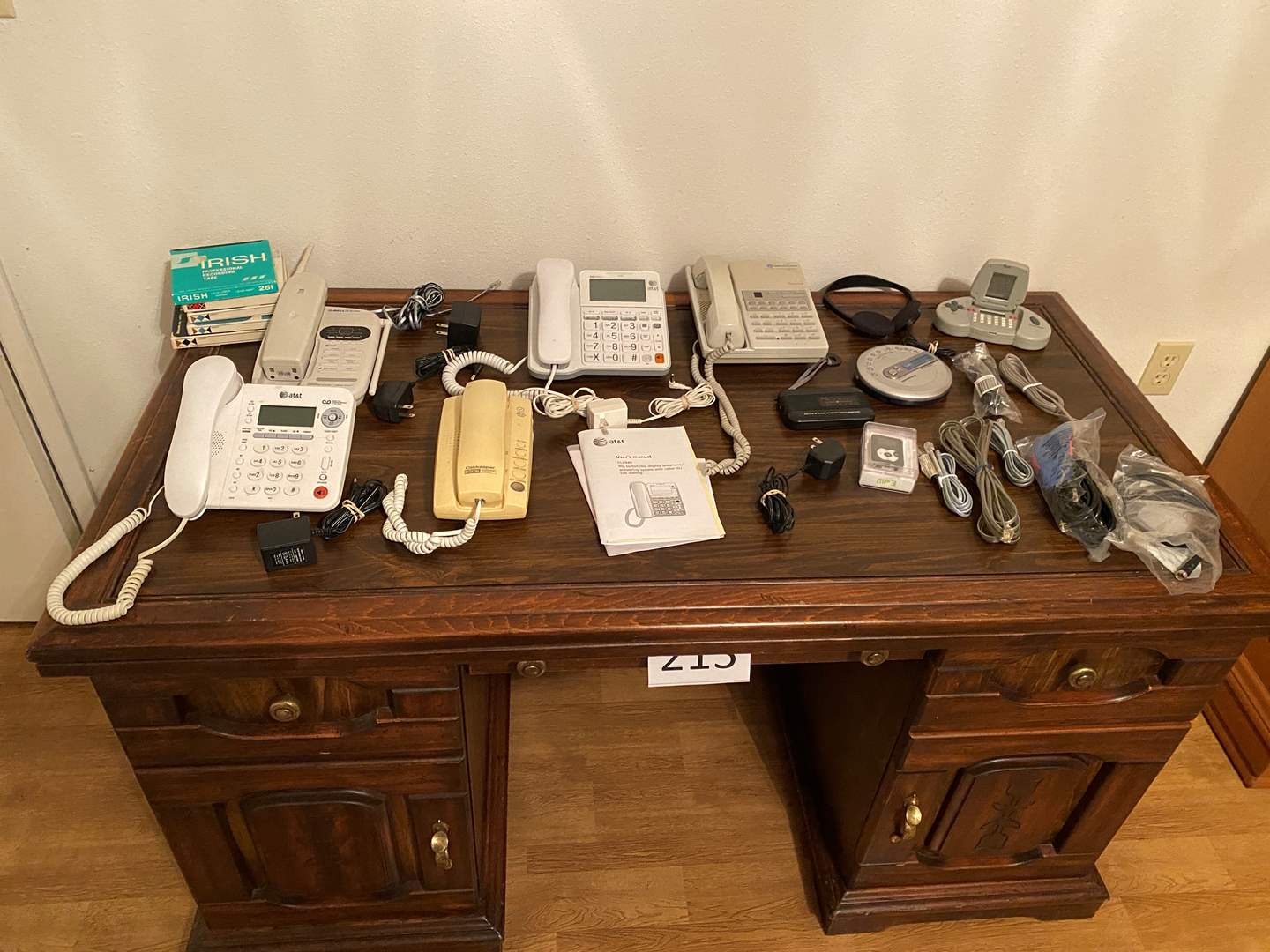 Lot # 215 - Landline Phones, Portable CD Player, MP3 Player, Hand Held Game & More.. (main image)