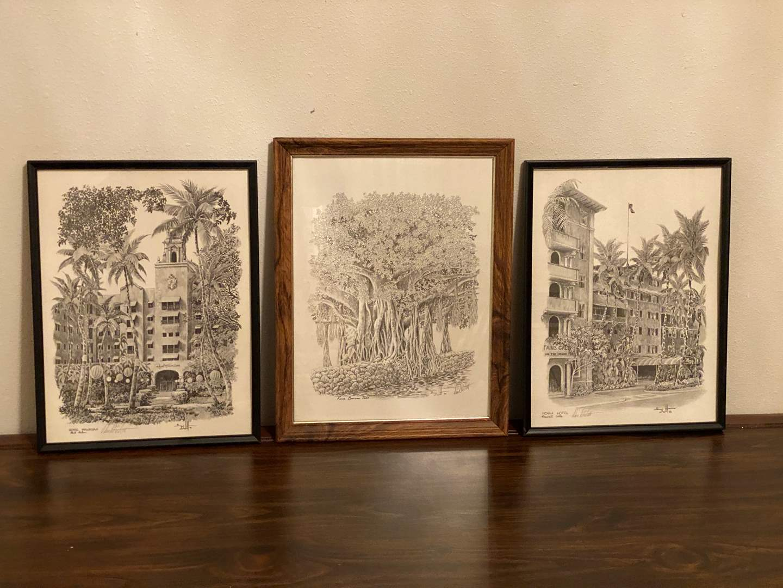 Lot # 218 - Three Signed Pieces of Hawaiian Artwork by Don D'Witt (main image)