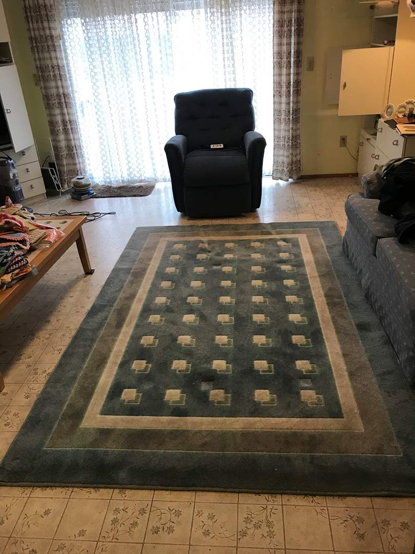 "Lot # 200 - Rittenhouse Collection ""Crossings"" Rug in Blue/Grey (main image)"