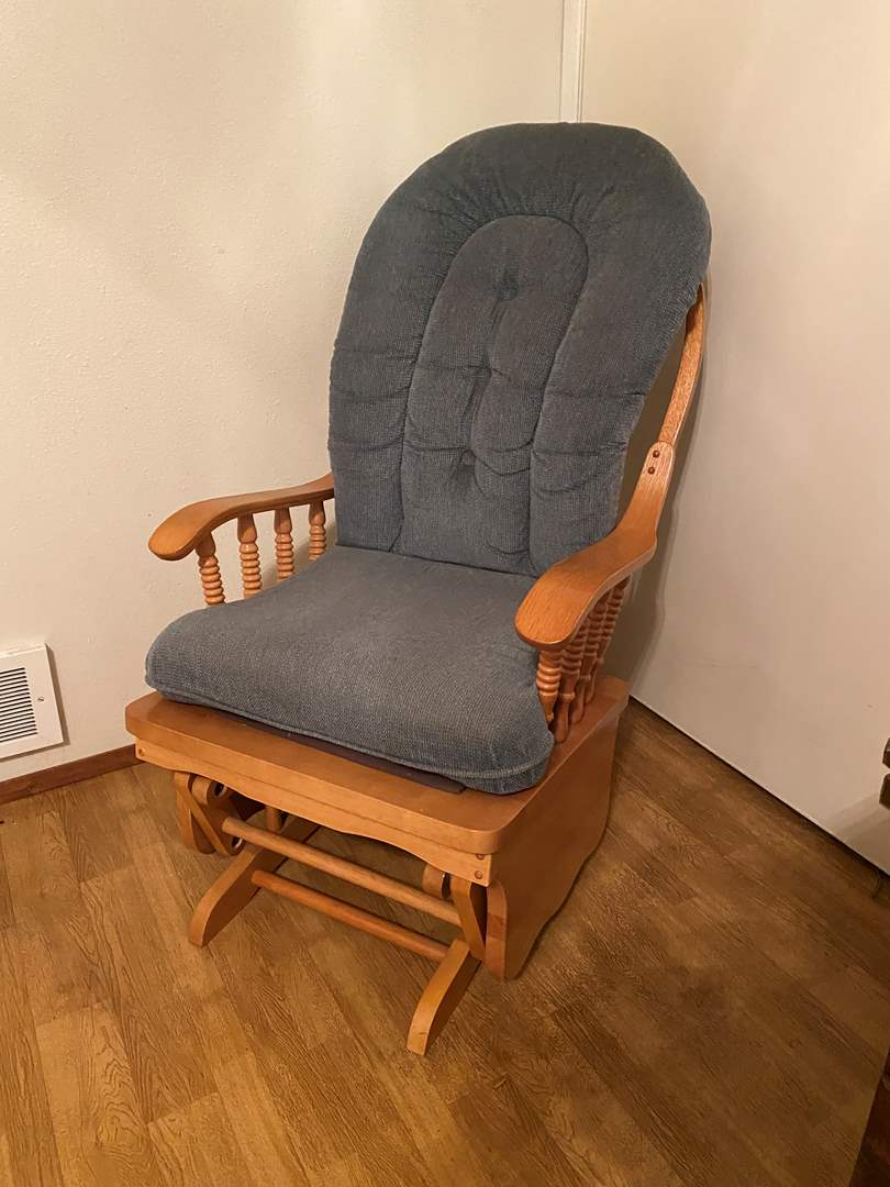 Lot # 245 - Wood Glider Chair  (main image)