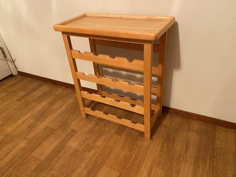 Lot # 247 - Wood Wine Rack  (main image)