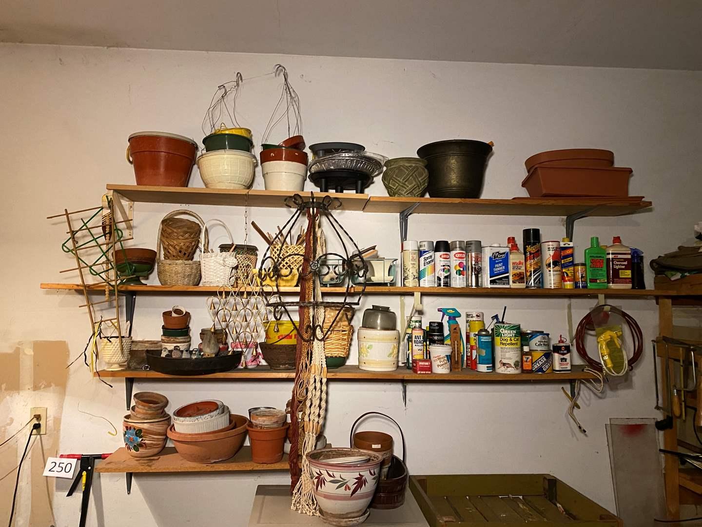 Lot # 251 - Flower Pots, Baskets, Chemicals & More.. (main image)