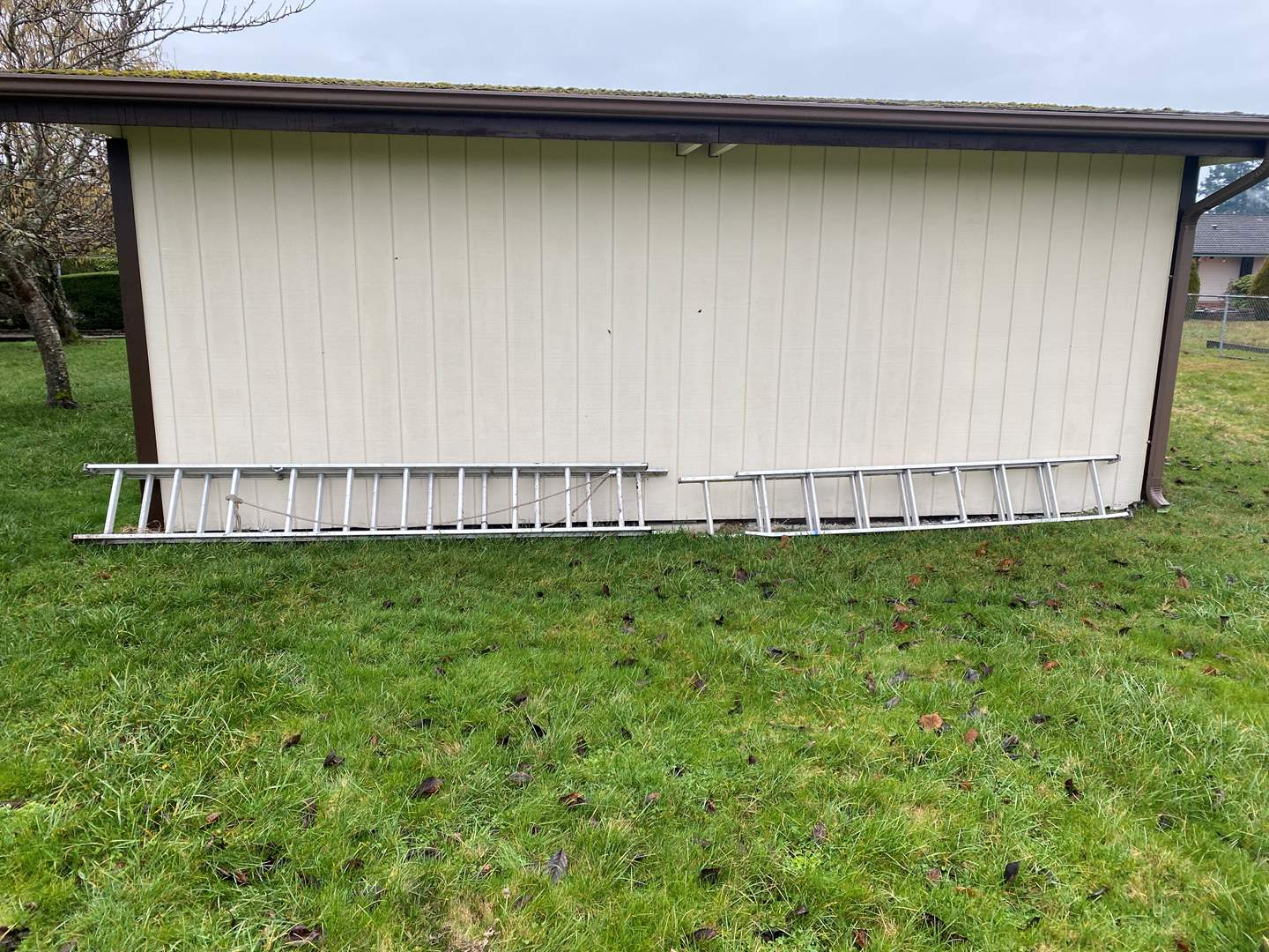 Lot # 284 - Two Aluminum Extension Ladders (main image)