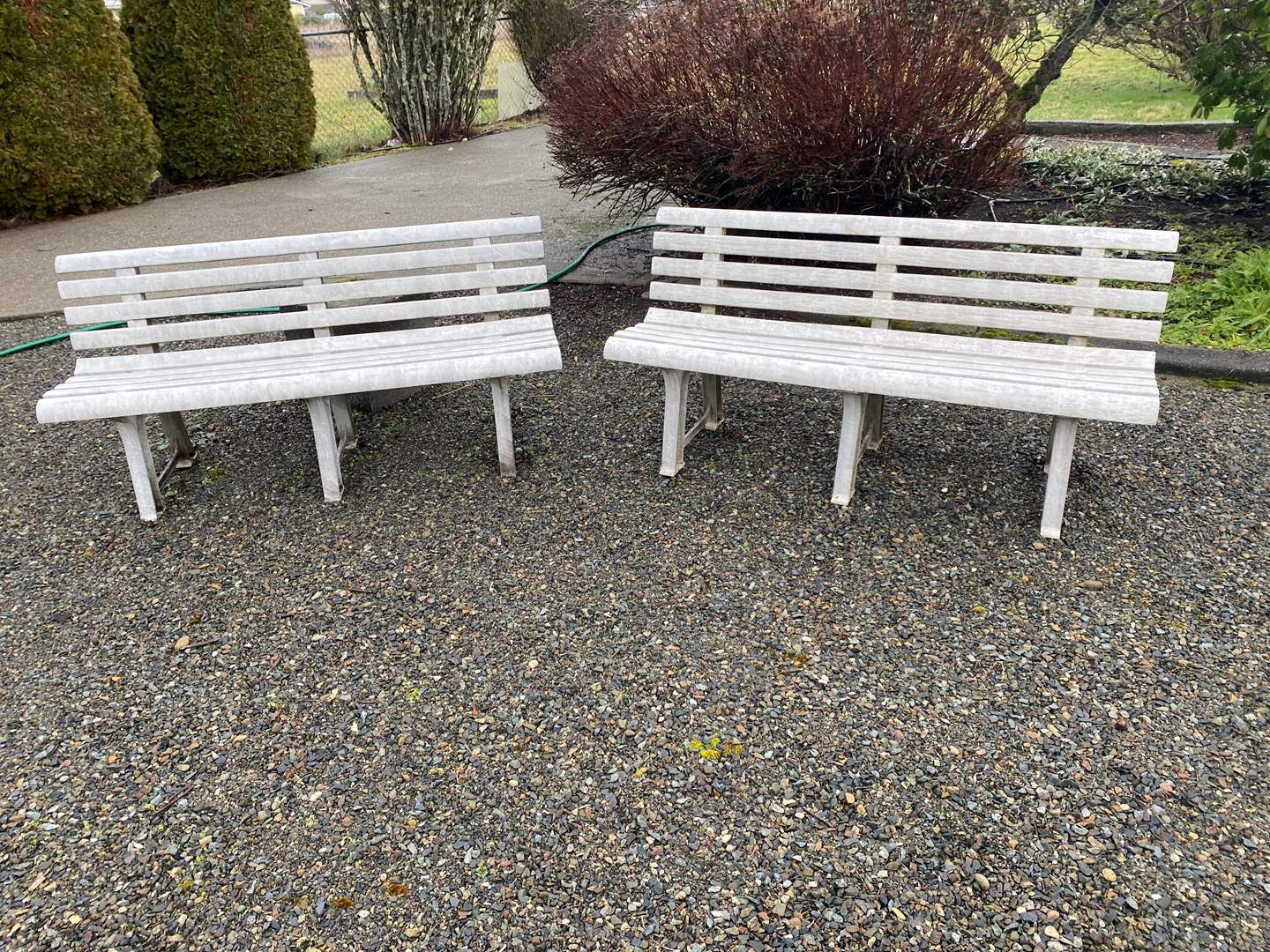 Lot # 293 - Two Plastic Garden Benches (main image)