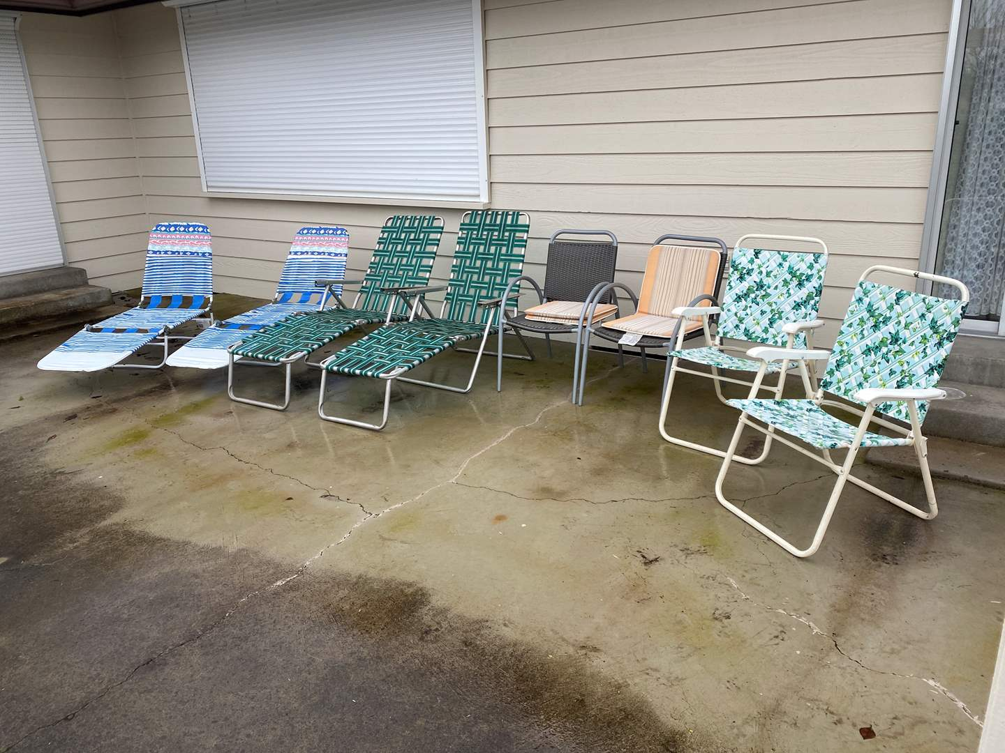 Lot # 294 - Eight Outdoor Chairs (main image)