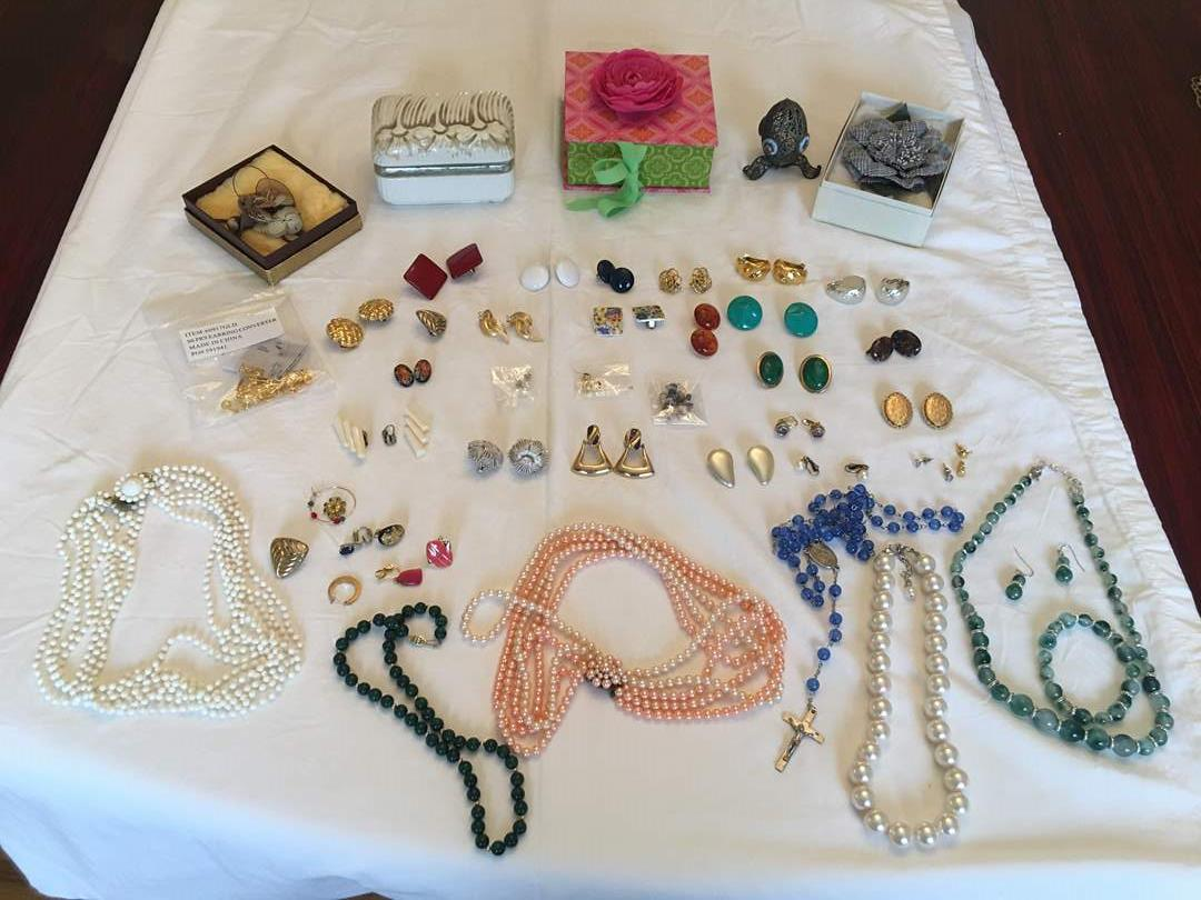 Lot # 138 - Trinket Boxes, Fashion Earrings & Necklaces  (main image)
