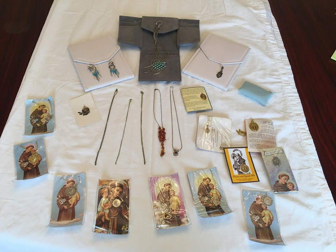 Lot # 140 - Chains Stamped?, Sterling Necklaces, Religious Items & Earrings (main image)