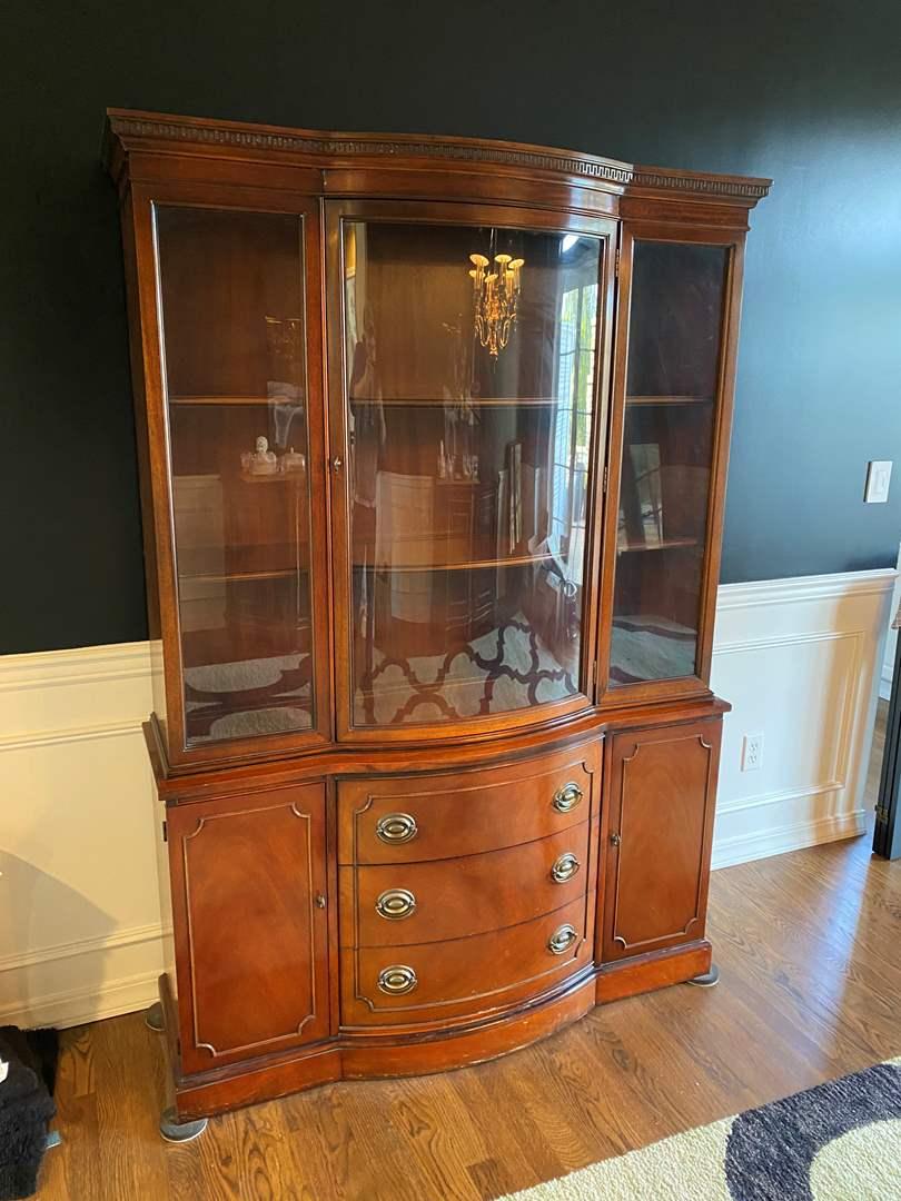 "Lot # 4 - Vintage ""Drexel-Travis Court"" Petite China Cabinet (main image)"