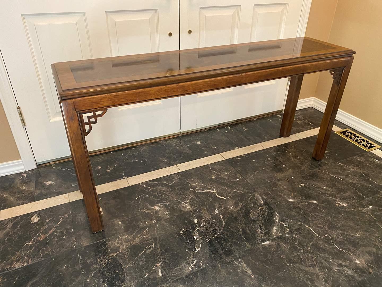 Lot # 9 - Drexel Heritage Sofa Table  (main image)