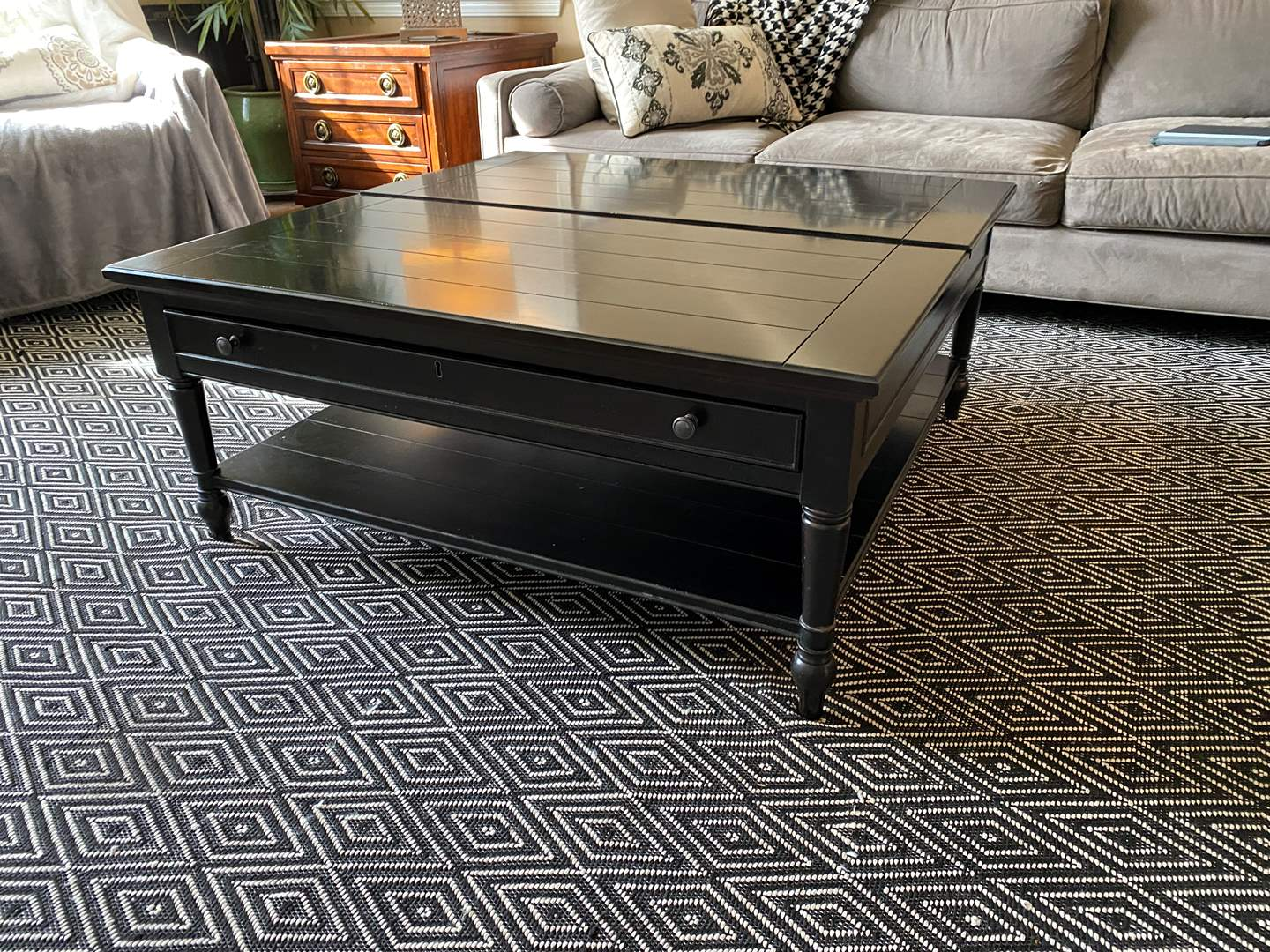 """Lot # 13 - """"Universal"""" Coffee Table w/Pop-Up Table Top  (main image)"""