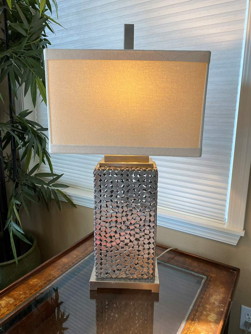 """Lot # 14 - Cool Unique Metal Table Lamp - 38.5"""" Tall  (main image)"""