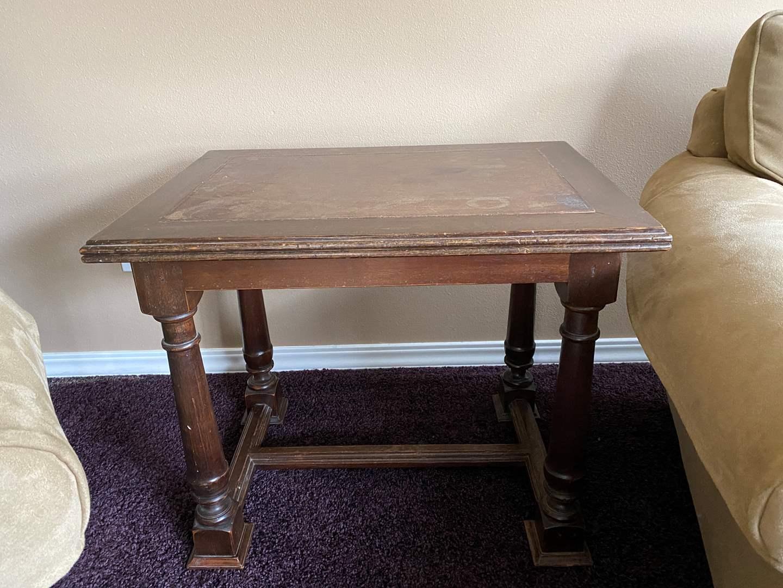 Lot # 27 - Vintage Wood Side Table  (main image)