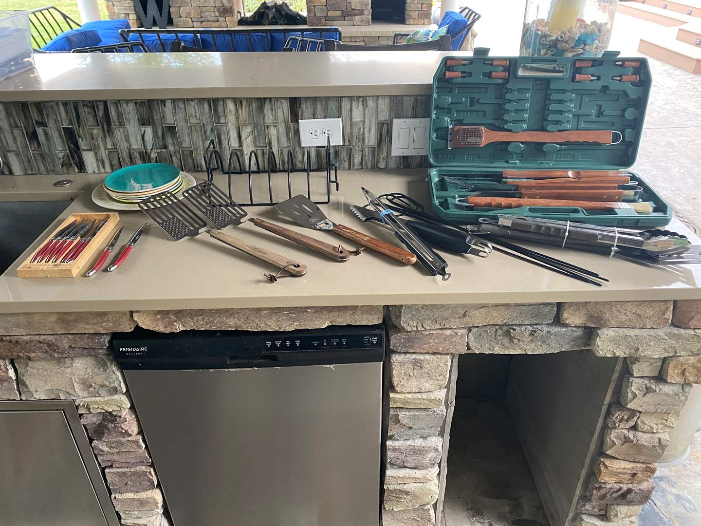 Lot # 85 - Assortment of Grilling Tools & Accessories  (main image)