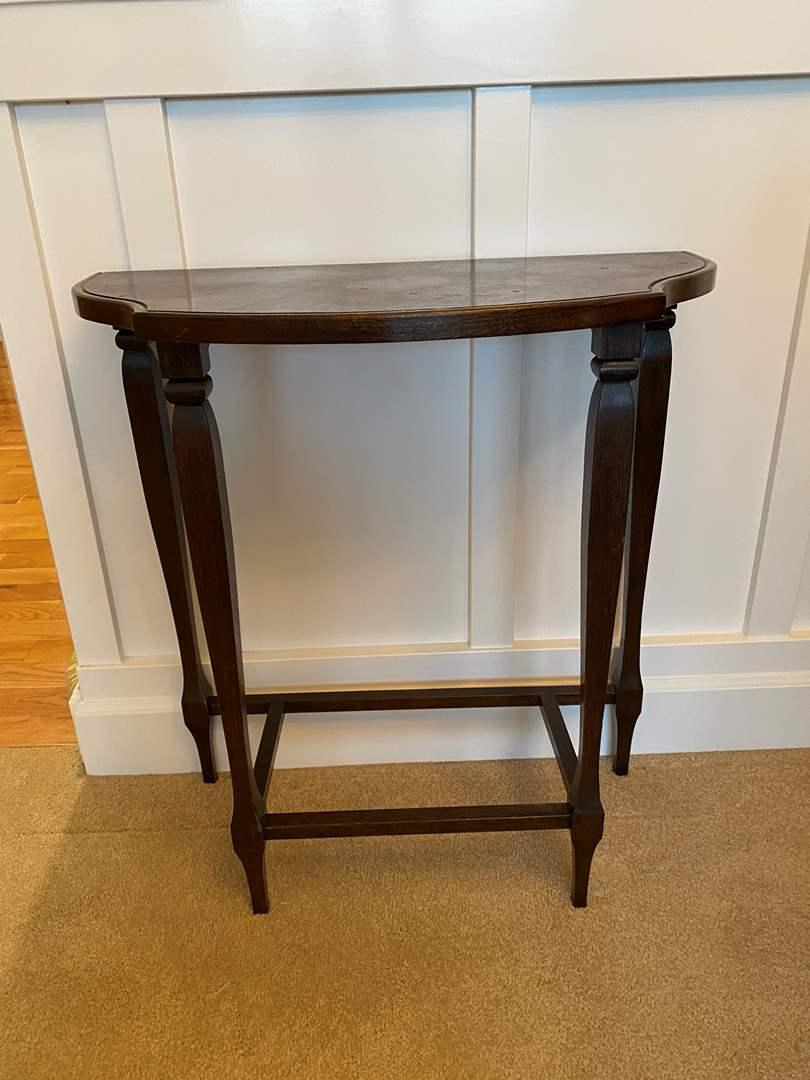 Lot # 11 - Vintage/Antique Wall Hugger Table  (main image)