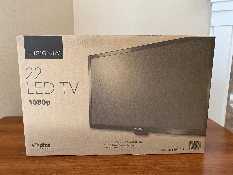 "Lot # 24 - New in Box 22"" Insignia LED Flat Screen TV - Model NS-22D510NA19 (main image)"