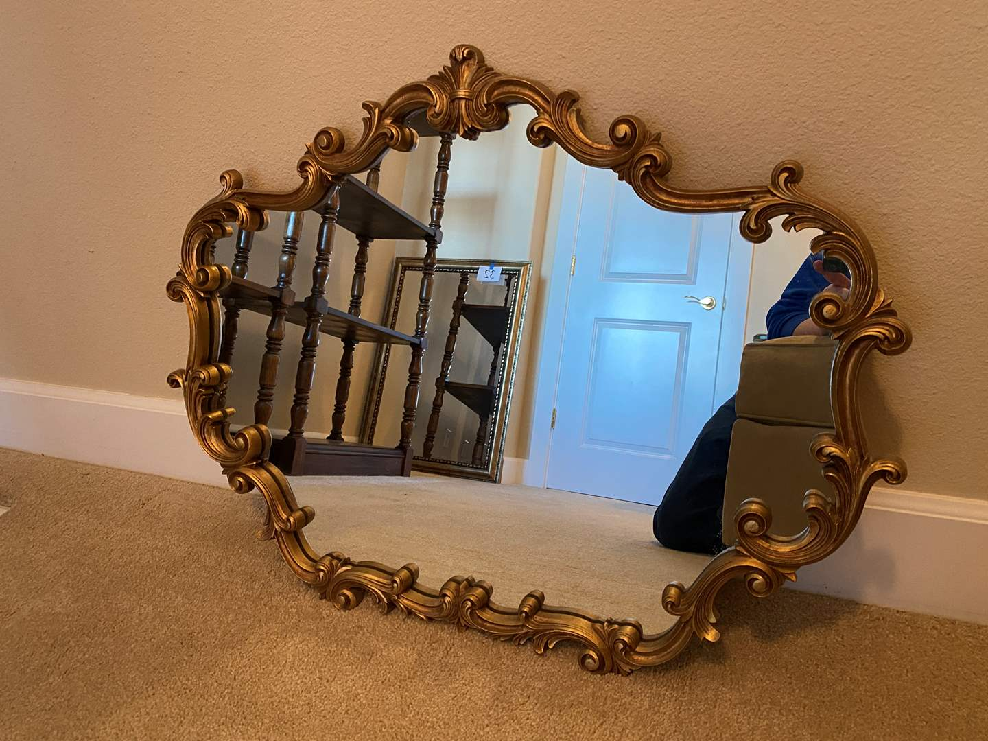 "Lot # 33 - Vintage Wood Framed ""Syroco"" Mirror (main image)"