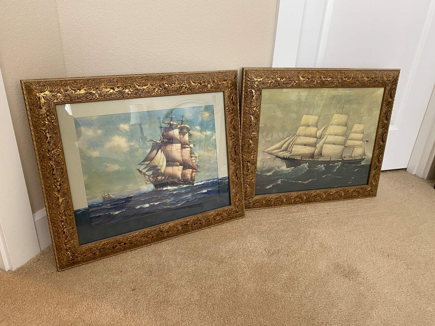 Lot # 43 - Two Framed Nautical Ship Prints One by Frank Vining Smith  (main image)