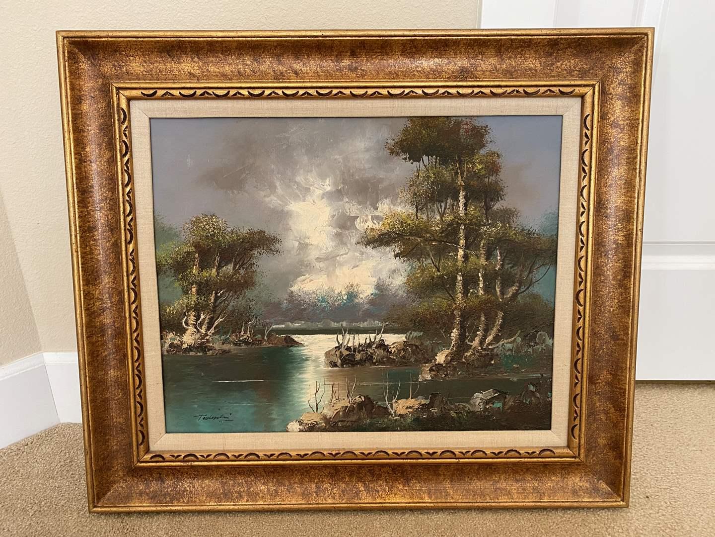 Lot # 44 - Original Signed Oil on Canvas  (main image)