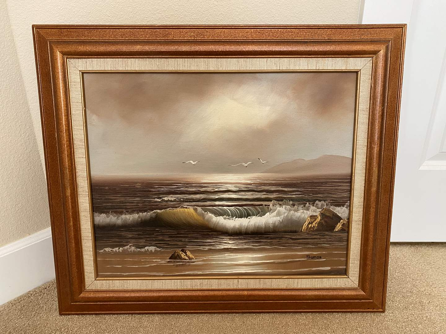 Lot # 45 - Original Signed Oil on Canvas Board by Thomas (main image)