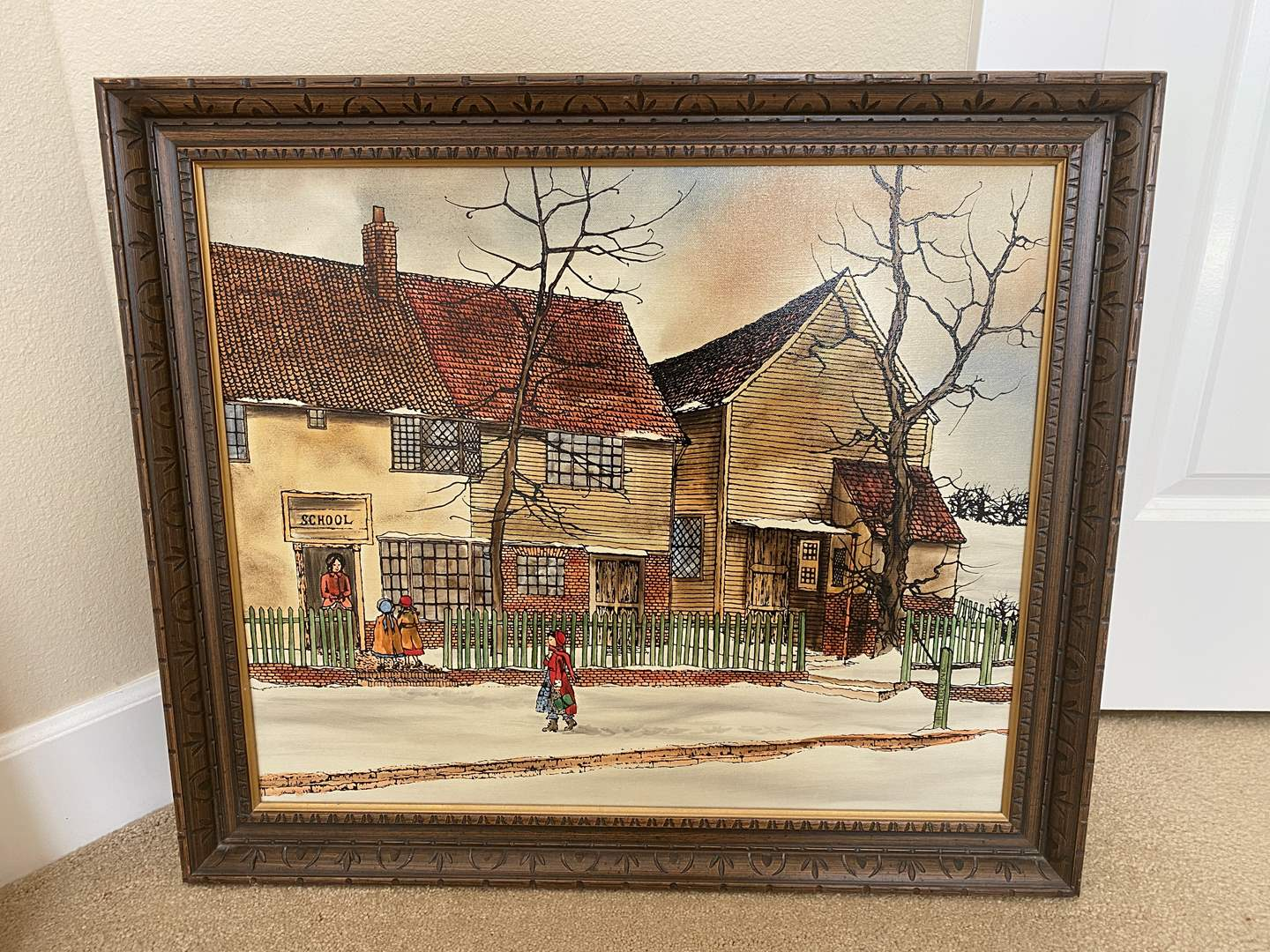 Lot # 48 - Nicely Framed Oil on Canvas Artwork Signed by H.Hargrove (main image)