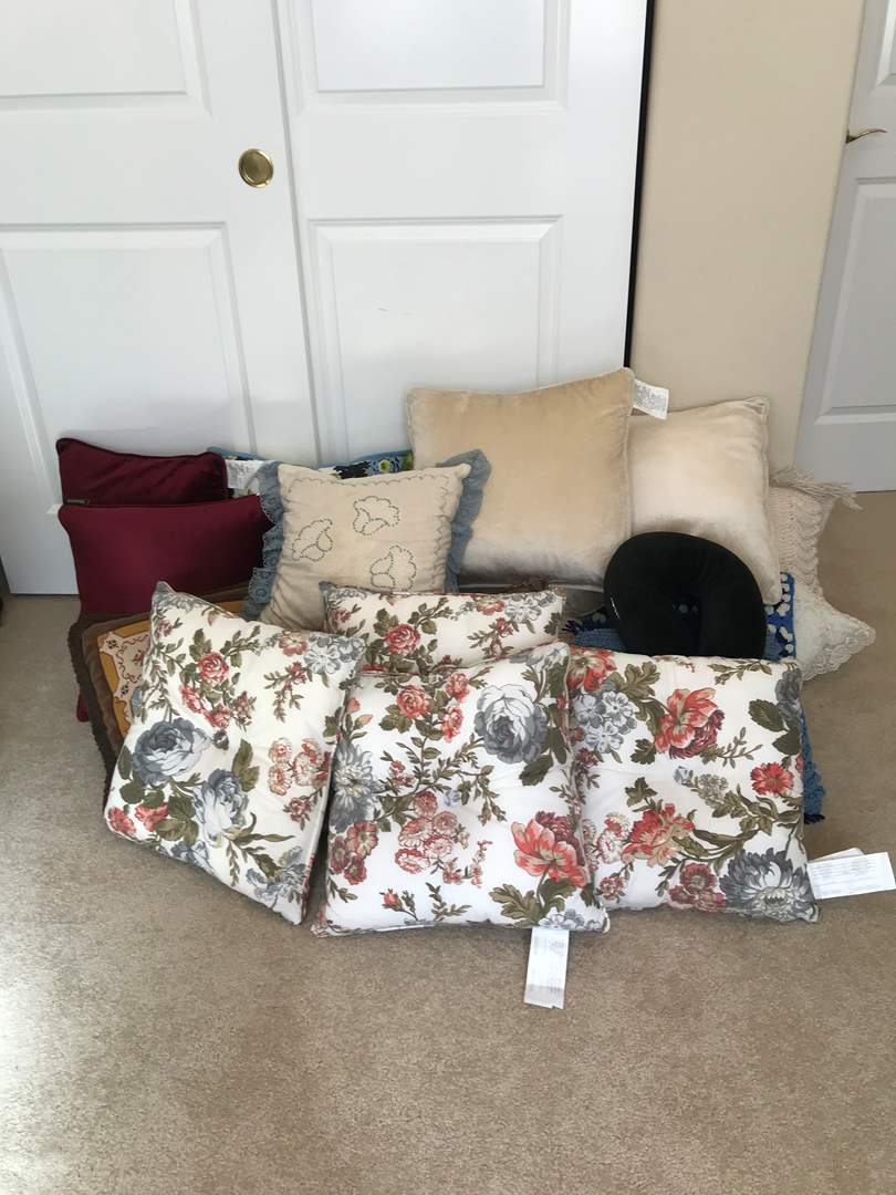 Lot # 99 - Collection of New & Used Throw Pillows - (Some Handmade) (main image)