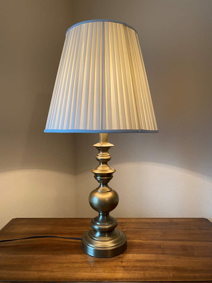 """Lot # 140 - Vintage Brass Table Lamp - 31"""" Tall  (main image)"""