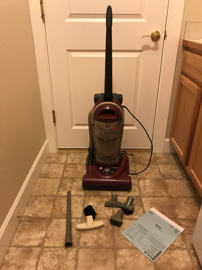 Lot # 160 - Hoover Vacuum w/Attachments & Instruction Manual (main image)
