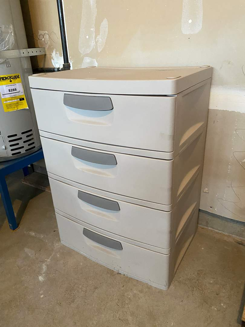 Lot # 179 - Nice Four Drawer Sterilite Storage  (main image)