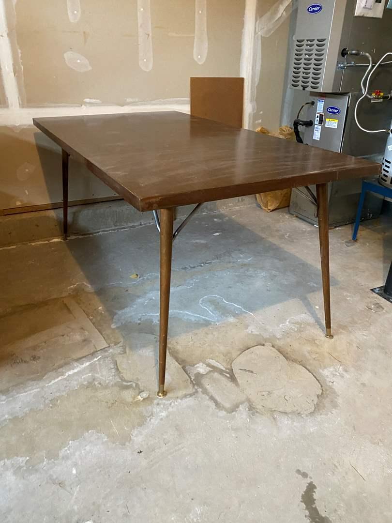 Lot # 186 - Wood & Metal Table  (main image)