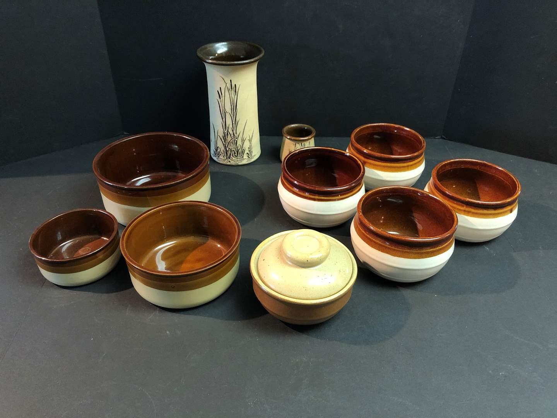 Lot # 55 - Selection of Stoneware Bowls & Vase (main image)