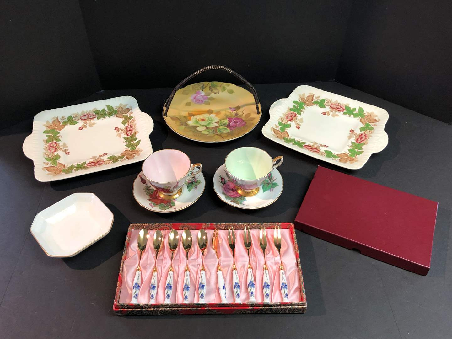 """Lot # 143 - Two Wedgewood """"Wildbriar"""" Serving Dishes, 2 Paragon """"Grand Gala"""" & """"Prelude"""" Tea Cup w/Saucer & More.. (main image)"""