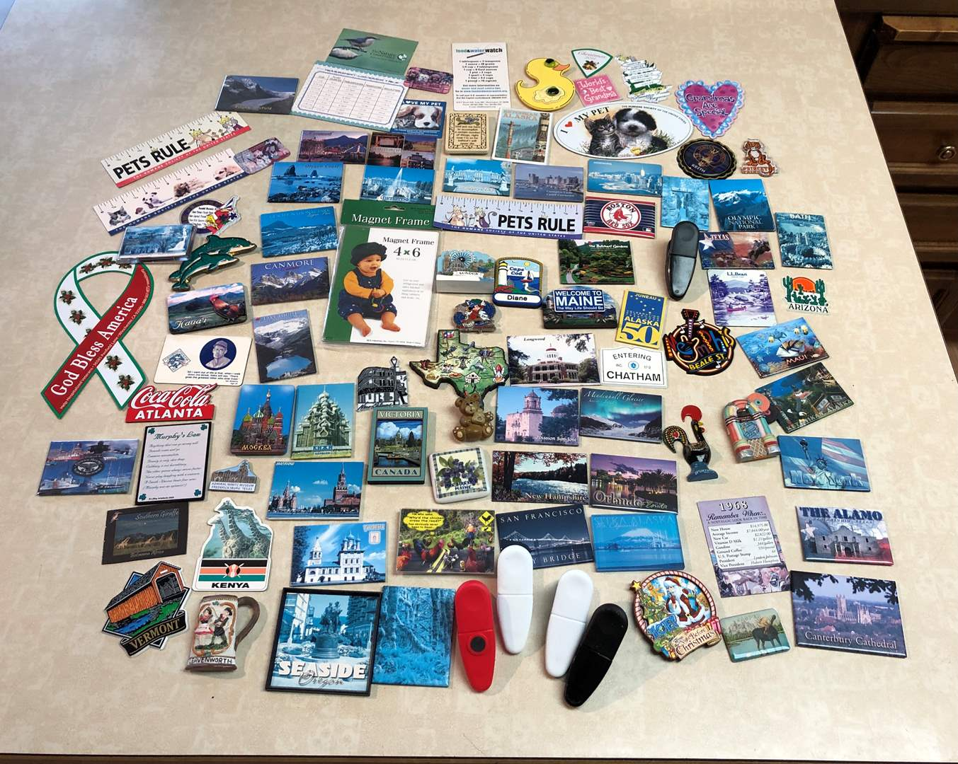 Lot # 146 - Large Collection of Magnets  (main image)