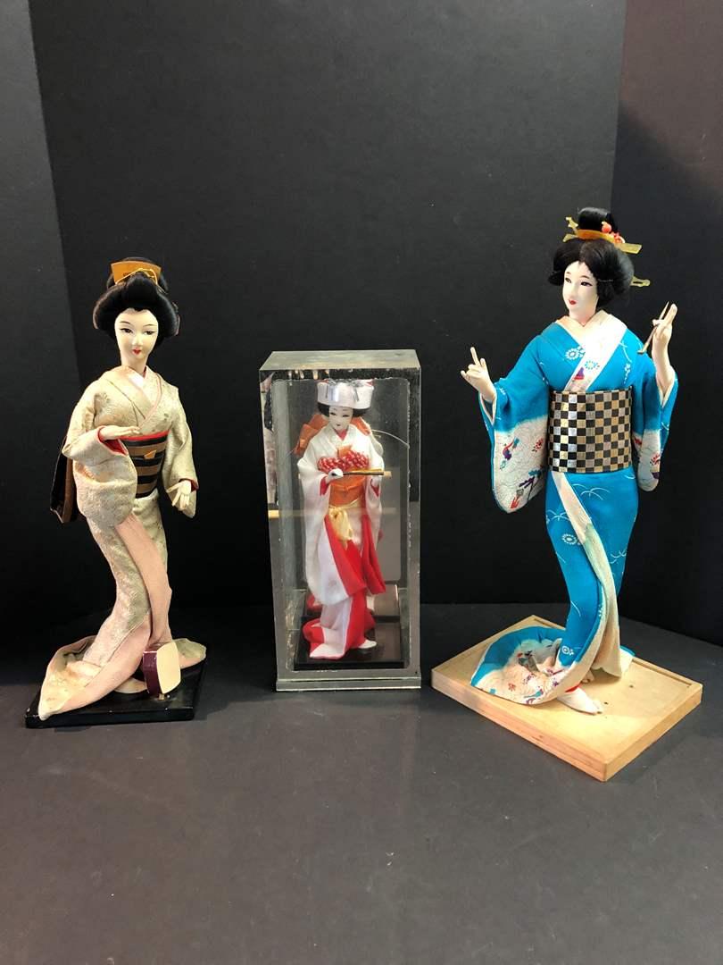 Lot # 163 - 3 Beautiful Asian Dolls  (main image)