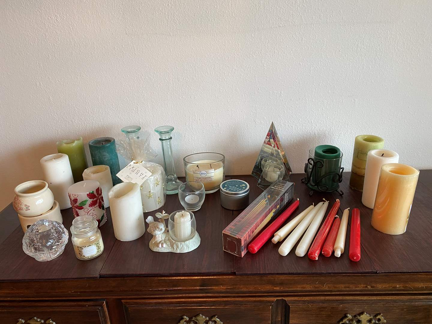 Lot # 4 - Small Collection of Candles & Candle Holders  (main image)