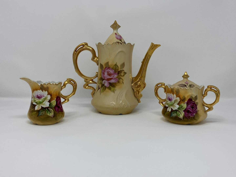 "Lot # 8 - Three Piece ""Lefton"" 1867 Tea Set  (main image)"