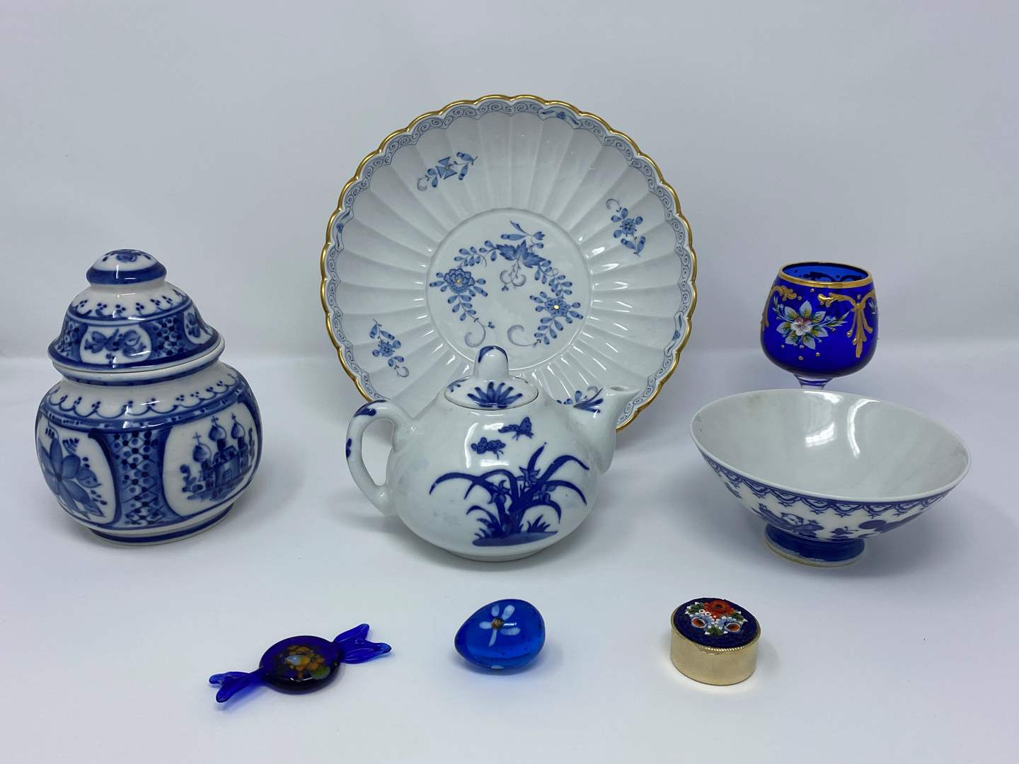 Lot # 16 - Small Collection of Beautiful Cobalt Blue Items (main image)