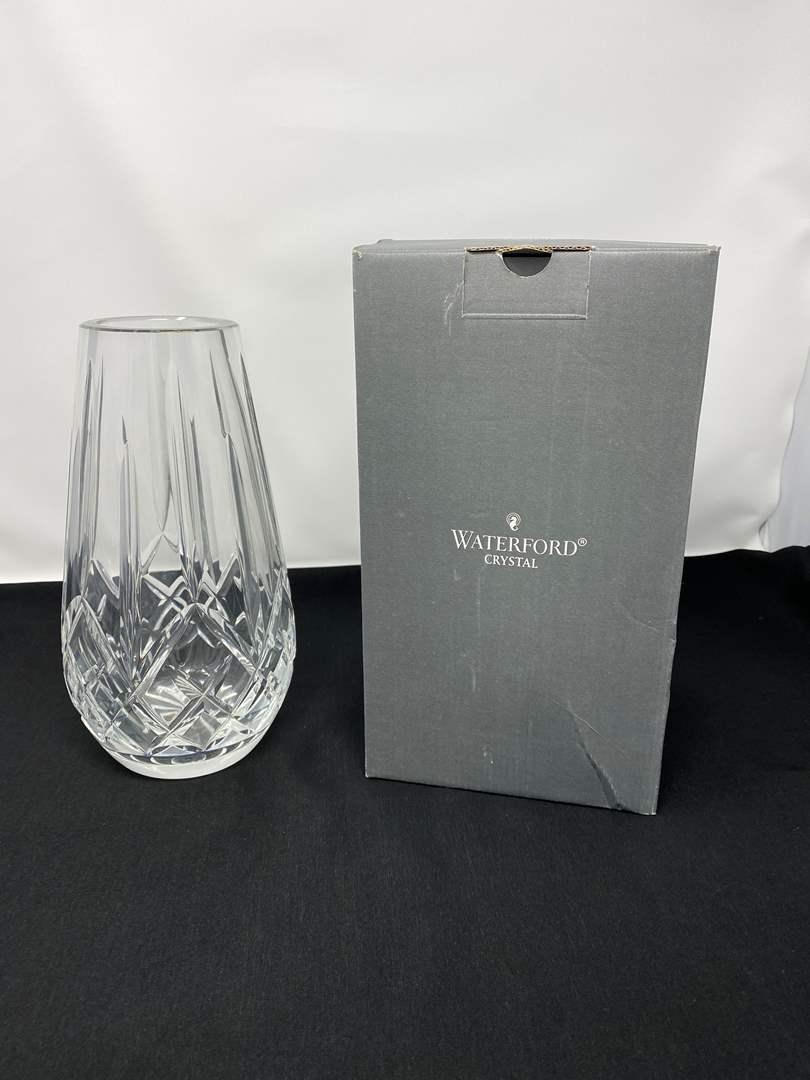 "Lot # 10 - Nice 9"" Waterford Crystal Vase w/Box (main image)"